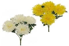 Busch 5 Fiori Crisantemo Spider Cm 54 Fiori Artificiali Decoro Composizione