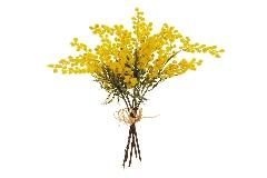 Mazzo Mimosa 5 Steli Cm 40 Fiori Artificiale Decorazione Regalo Festa Della Donna