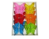 Farfalla Clip Cm 8 Pz 12 Decorazioni Pasqua