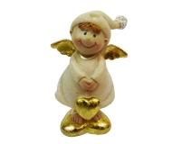 Angelo Gnomo Resina Cm 8 Decorazione Natale