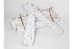 12 Cortecce Spesse Di Legno Naturale Laccato Bianco