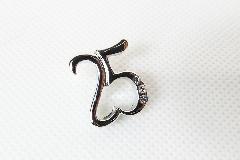 Ciondolo 25 Metallo Con Strass Pz 6 Matrimonio