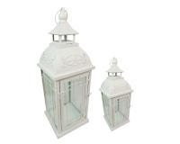 Set Lanterne Bianche 2 Pz Linea Estate Mare Matrimonio Decorazione