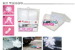 N°1 Kit Decorazione Wedding Nastro Splendene Con Appendino