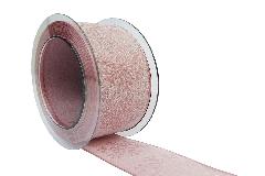 Nastro Fiocco Di Neve Perlato Rosa Mm 40 Mt 15