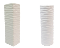Monofiore Vaso Ceramica Ondulato D. 5,5 H. 18