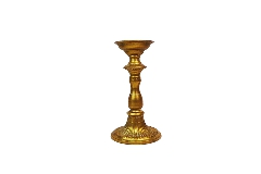Candelabro Una Fiamma Oro Antico D. 14 H. 29