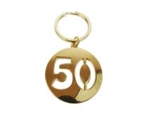 Portachiave Applicazione Bomboniere 50 Nozze Oro Pz 1