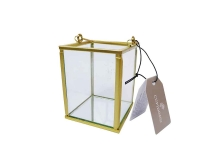 Lanterna Vetro Metallo Oro Specchio  Piccola