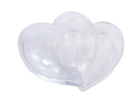 Scatola Cuore Plastica Resistente Con Tappo Cm 10 X 10 San Valentino