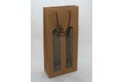 10 Porta Bottiglie Con Finestra Kraft