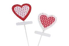 Pick Cuore Legno Assortito Pz 24 San Valentino