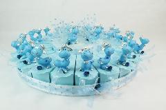 Torta Bomboniere 24 Fette Con 1 Centrale Celeste Battesimo Animali