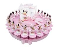 Torta Bomboniere Disney Minnie Ballerina 24 Fette Con 1 Centrale Rosa