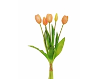 Mazzetto Tulipani Real Touch Salmone