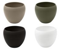 Vaso Ceramica Bombato H. 23 D. 27 Composizione Floreale