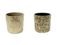 Cachepot Ginko D. 14,5 H.14 Vaso Decorativo