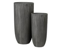 Vaso Sand Fiber S/2 D. 40 H. 80 D. 50 H. 100 Fioristi Addobbi Floreali Nero