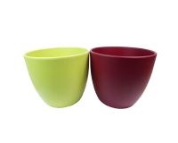 Vaso Ceramica Opaco H 14 Composizione Floreale Fioristi