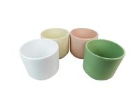 Vaso Ceramica Sabbiato S/3 D 19 15 12 Decorazione Casa