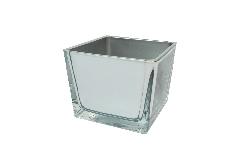 Cubo Vetro Cm 8x8x8 Specchio Decorazione Arredo Cerimonia Evento