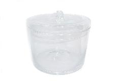 Portacaramelle Barattolo In Vetro Con Tappo D.15 H.20 Contenitore Confettata