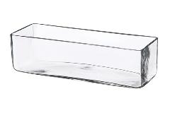 Vaso Rettangolare 10x30x10 Cm Contenitore In Vetro Trasparente