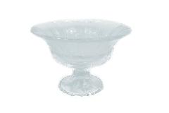Coppa Vetro 13,30x11 Cm Trasparente Lavorato Decorazione Arredo Casa