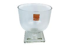 Calice Minimal 23,5xH.32 Cm In Vetro Trasparente Decorazione Arredo