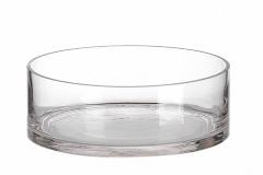 Cilindro In Vetro Basso D.20xH.9 Cm Vaso Contenitore Decorazione Arredo