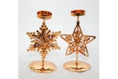 Porta Tea-light In Metallo Sagomato Color Oro