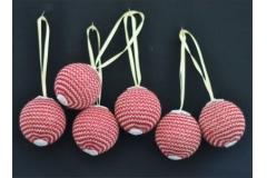 Kit 6 Sfere Palle Lavorate A Maglia 45 Cm Albero Natale