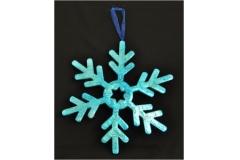 Fiocco Di Neve Di Natale Color Cobalto Lucido Shine Diametro 40 Cm
