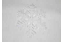 Decorazione Fiocco Neve Glitter D. 15