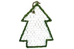 Albero Willow Verde 33x50 Cm Legno E Metallo Decorazioni Addobbi Natale