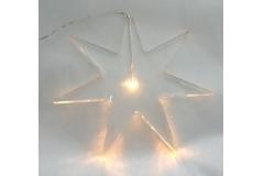 Stella In Plexiglass Trasparente Con Luce Led Fredda 25x25 Cm