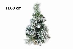 Albero Di Natale Innevato Cortina Cm 60