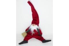 Babbo Natale Elfo Seduto Rosso Cm 23