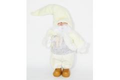 Babbo Natale Elfo In Piedi Crema Cm 31