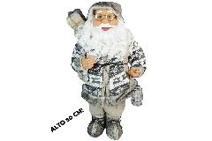 Babbo Natale Sacco E Lanterna Cm 80 Con Musica