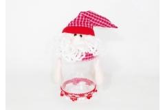 Babbo Natale Contenitore Pvc H. 18 Cm