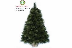 Albero Di Natale A Parete A Metà C/cesto Cm 120
