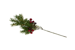 Ramo Pino Bacche Rosse Cm 35 Artificiale Decorazioni Addobbi Natale