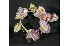 Fiore Giro Candela Con Lustrini Glitter