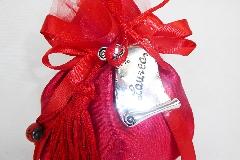 Bomboniera Sacchetto Rosso Con Pergamena Laurea