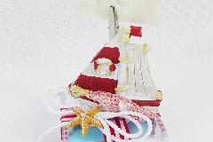 Bomboniera Scatola Plexiglass Con Barca Rossa Porta Foto