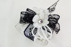 Bomboniera Scatola PVC B/W Con Roselline In Cotone Wedding