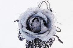 Bomboniera Sacchetto Raso Bianco Pizzo B/W Pick Rosa Grey Wedding