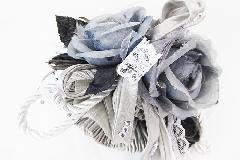 Bomboniera Saccoccio Raso Argento 2 Pick Rosa Grey Wedding