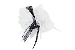 Bomboniera Pick Rosa Bianca LUX Pizzo Nero E Tulle B/W Wedding